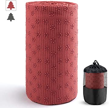 Aqui Legend Hot Yoga Towel, Extra Thick Super Absorbent Yoga Towels, Non Slip Waffle Texture, Perfect Size for Mat - Ideal for Gym Hot Yoga & Pilates