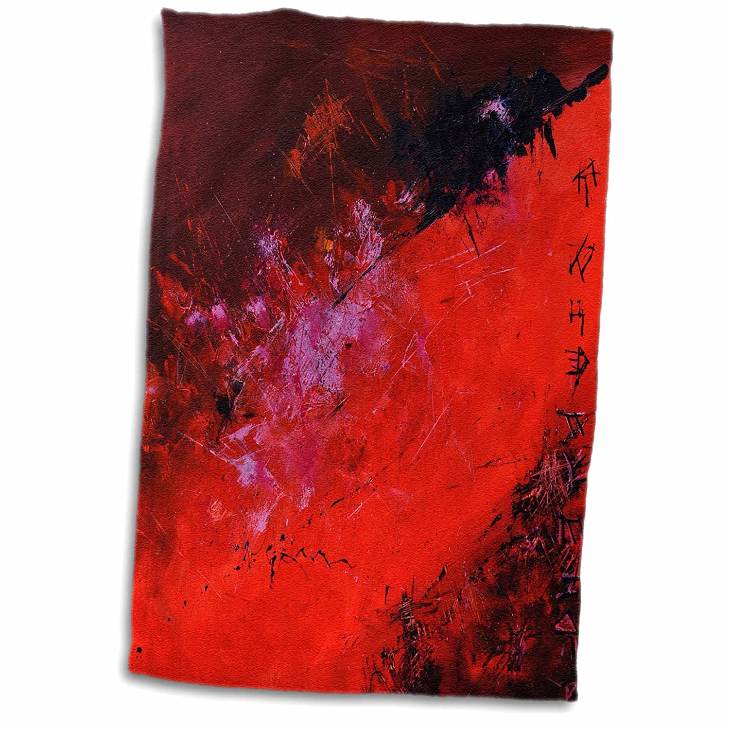3D Rose red Abstract TWL_21118_1 Towel 15' x 22'