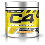 Cellucor C4 Original Pre Workout Powder Energy Drink w/Creatine, Nitric Oxide & Beta Alanine, Orange Burst, 30 Servings