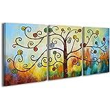 100% HANDMADE + Certificato | Quadro dipinto con colori acrilici Money Tree 2 | 120x60 cm | dipinti su tela con lettiga in legno | artigianali | Comodo fissaggio alla parete | Arte Contemporanea
