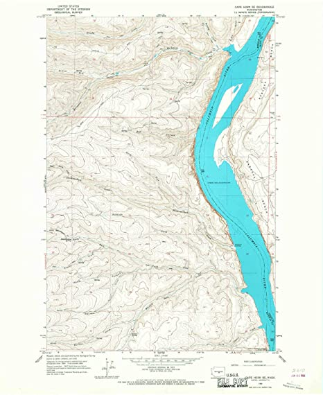 Amazon.com : YellowMaps Cape Horn SE WA topo map, 1:24000 ...