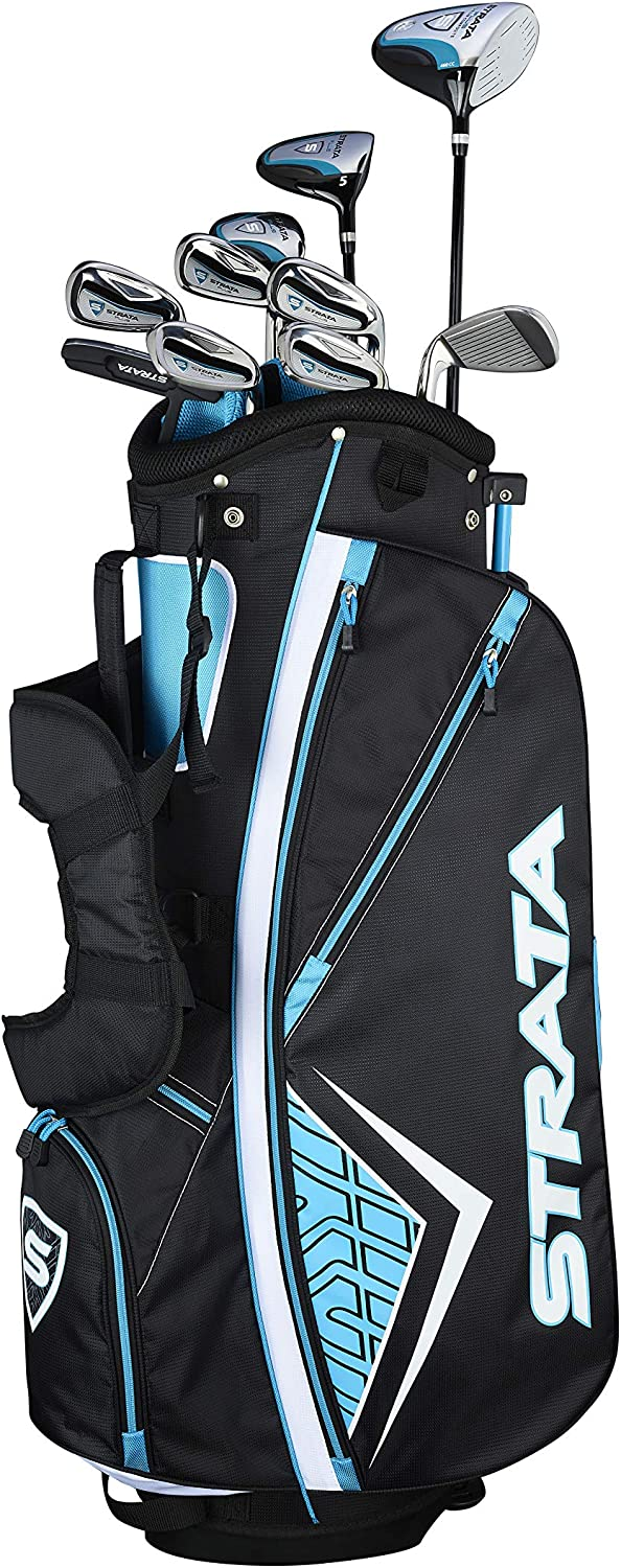 Roll over image to zoom in Callaway Women's Strata Plus Complete Golf Set (14-Piece, Right Hand)