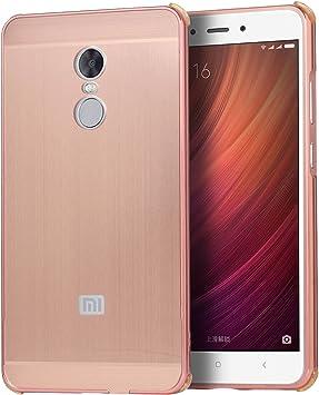 LXHGrowH Funda Xiaomi Redmi Note 4X, Prueba de Golpes Aluminio ...