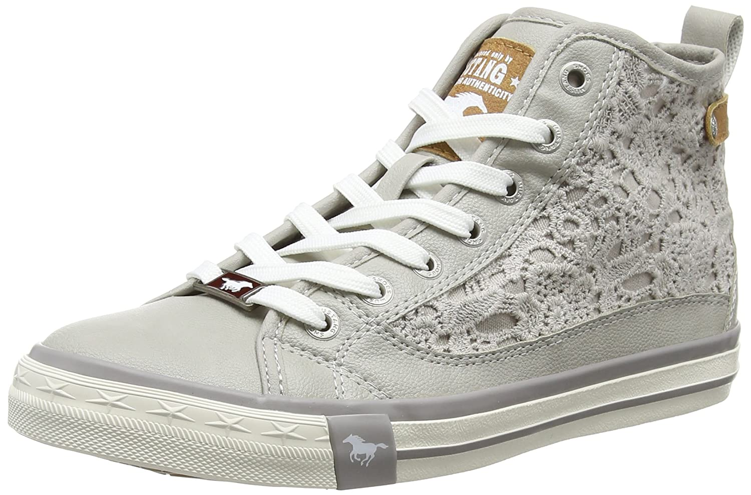 Mustang Damen Hellgrau) 1146-507-22 High-Top Grau (22 Hellgrau) Damen c36706
