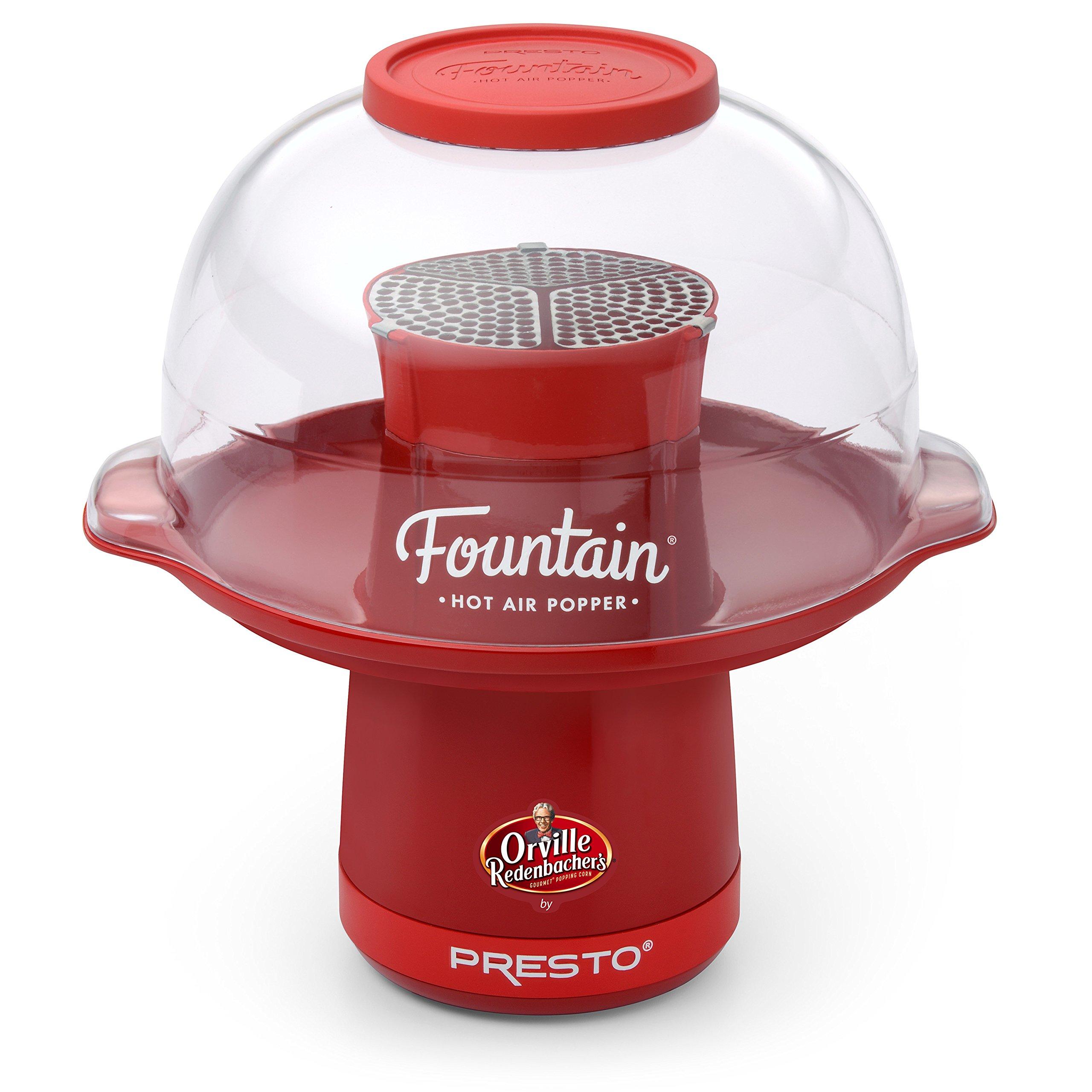 Presto 04868 Orville Redenbacher's Fountain Hot Air Popper by Presto, Red by Presto