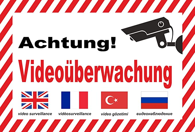 KE-Partyzubehör - Cartel de Advertencia para videovigilancia ...