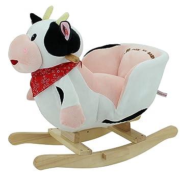 Mucca A Dondolo Nattou.Sweety Toys 3563 Dondolo A Forma Di Cavallo A Dondolo Mucca
