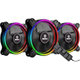 Enermax T.B. RGB AD Edition 3 Pack of 120mm PWM Case Fan; Unique 4-Ring Addressable RGB Lighting Sync via Motherboard/RGB Control Box; UCTBRGBA12P-BP3