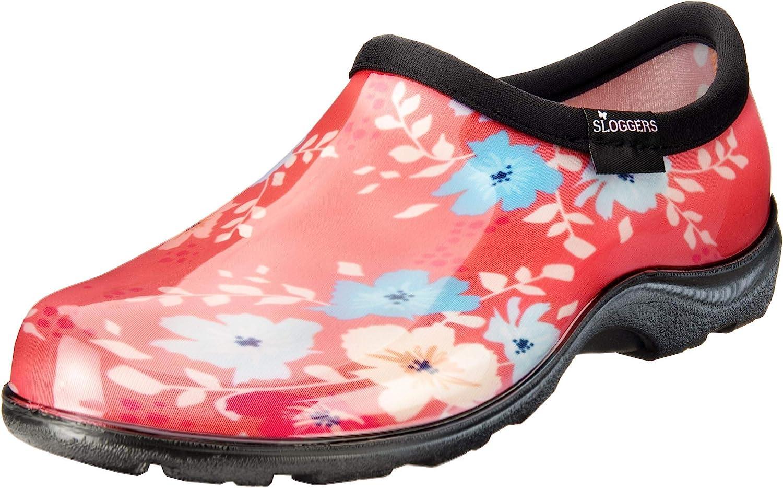 Sloggers 5120FFNCL09 Waterproof Comfort Shoe, 9, Coral Floral Fun Print