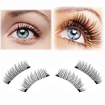 40bd5732802 Ultra Long Magnetic False Eyelashes - Cover the Entire Eyelids, Upgraded  Dual Magnetic Eyelash Extensions