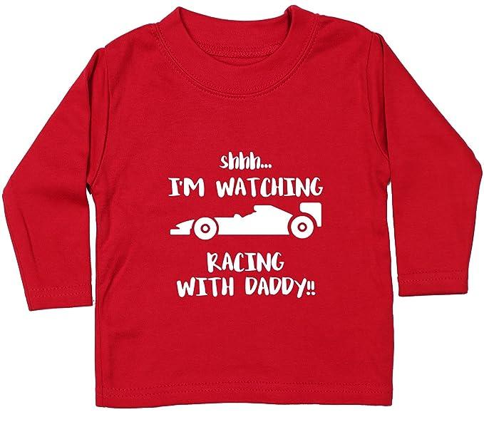 9426c367e Hippowarehouse Shhh. I'm Watching Racing with Daddy!! Baby Unisex t-Shirt  Long Sleeve: Amazon.co.uk: Clothing