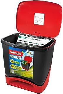 Vileda Cubo Ecologic - Cubo de Basura ecológico Especial para Reciclaje, múltiples Combinaciones, Capacidad