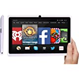 EGTAB 7 inch tablet pc | 8GB | HD 1024x600 | Android 4.4.2 QUAD CORE Tablet | Silicone Protection Case | Dual Camera |WiFi | Support with wired HDMI (via external adapter) and 3G Calls (via dongle) white