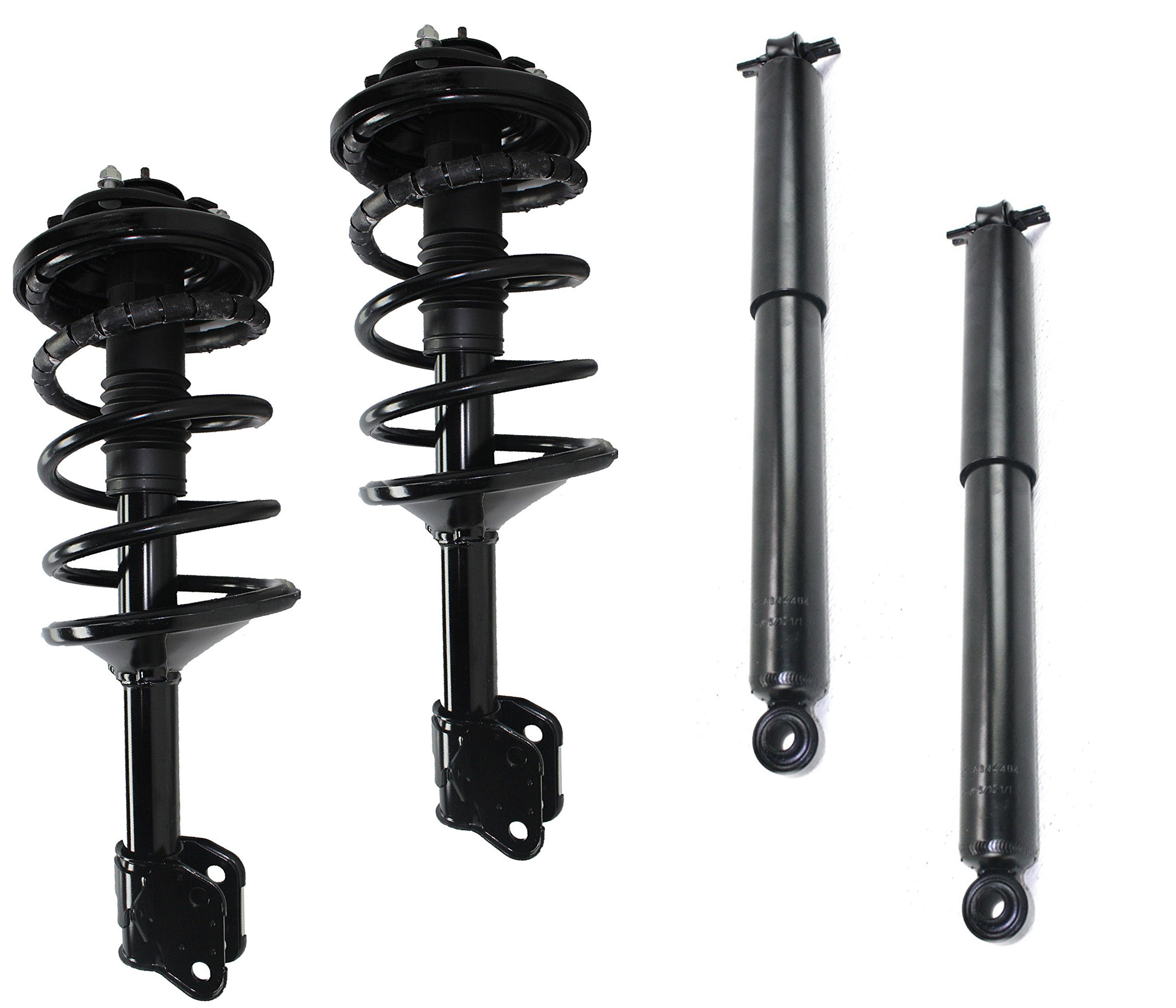 DTA 70119 Full Set 2 Front Complete Struts with Springs and Mounts + 2 Rear Shocks 4-pc Set, 2005-07 Honda Odyssey
