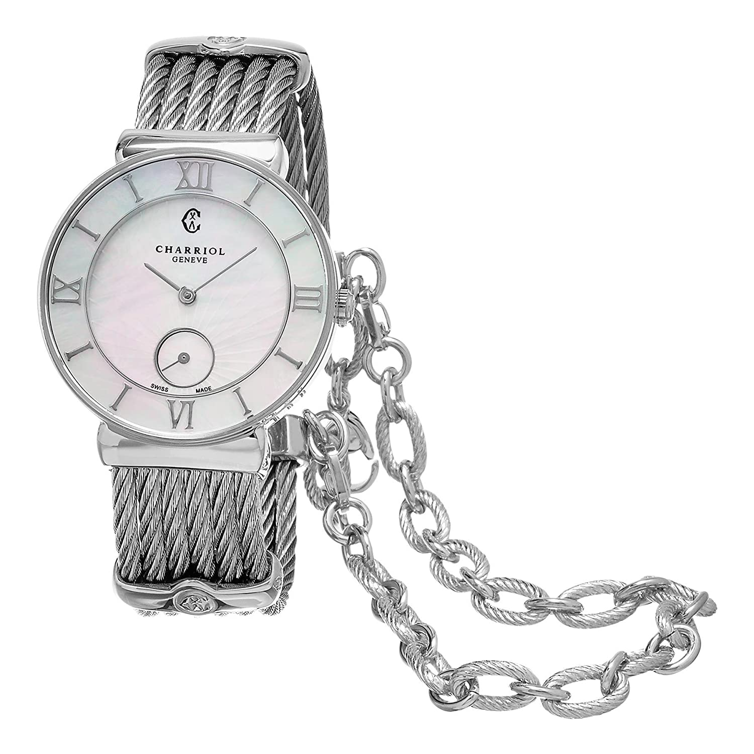CHARRIOL ST-TROPEZ DAMEN-ARMBANDUHR 30MM BATTERIE ST30SI.560.008
