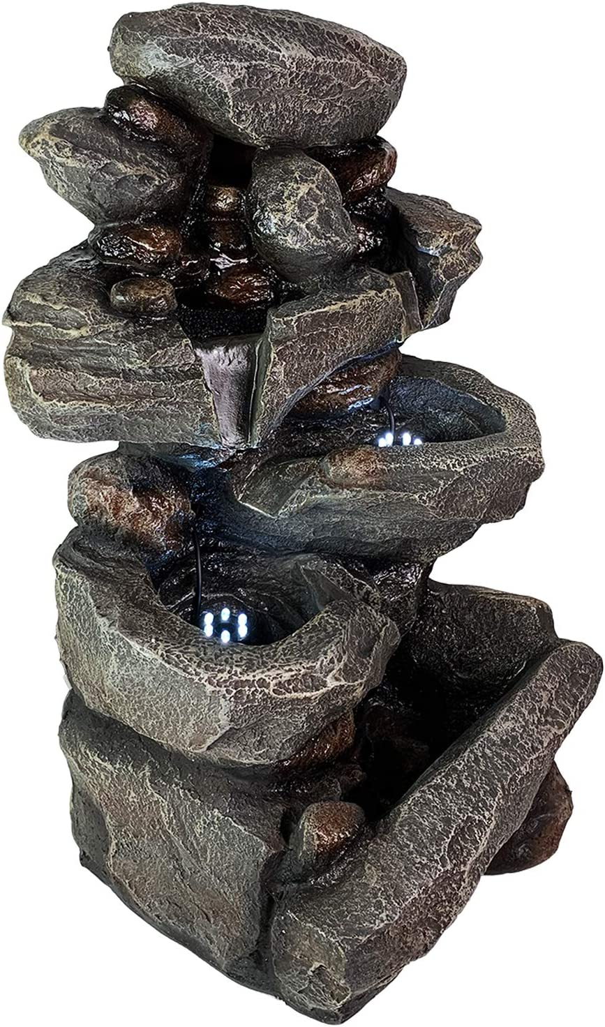 FineHome XL LED Springbrunnen Beleuchtung Gartenbrunnen