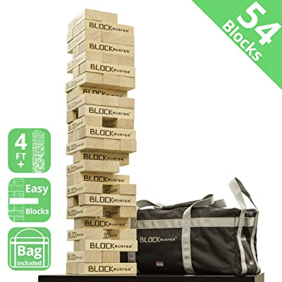 Seville Classics Premium Giant Block Tower Game with Heavy-Duty Storage Bag: Toys & Games