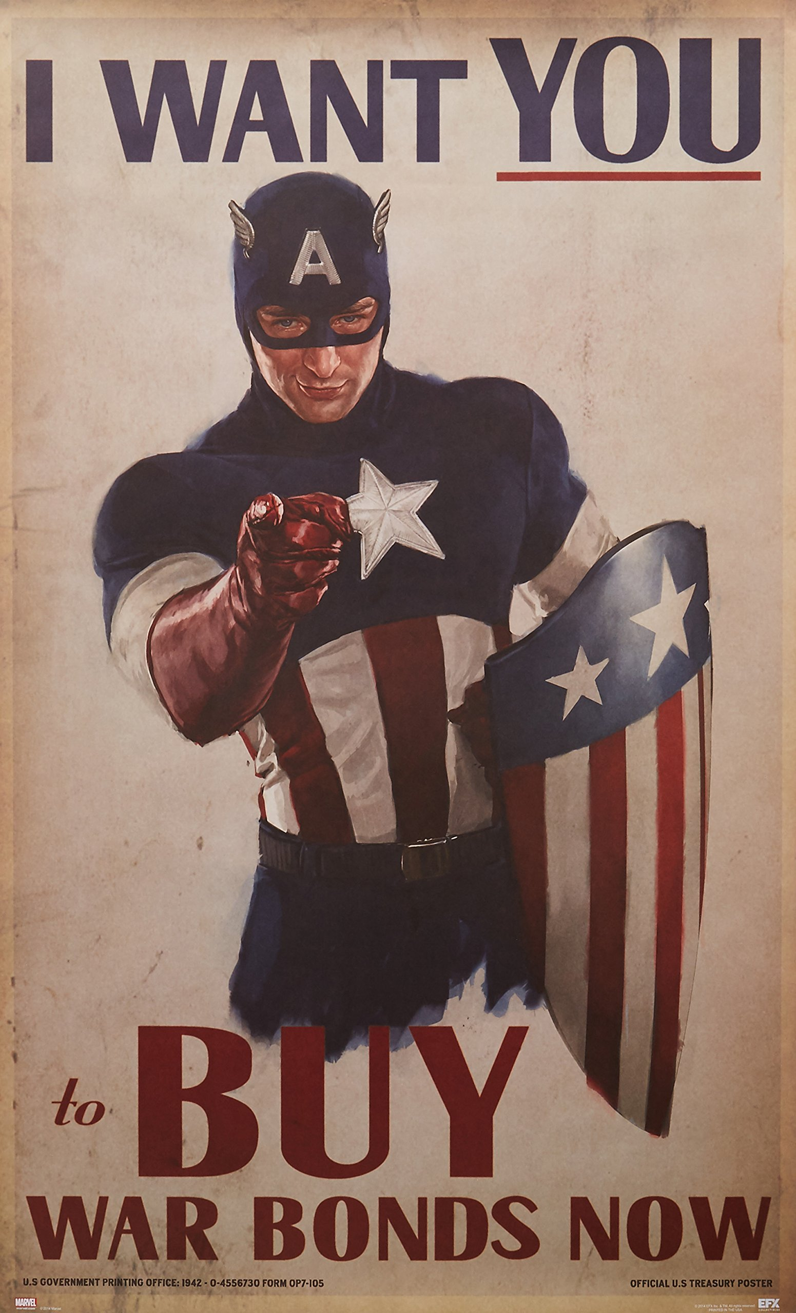 EFX Sports Efx Captain America Movie I Want You Poster