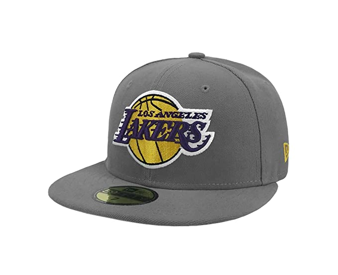5d7c1049ffb New Era 59Fifty Hat NBA Los Angeles Lakers 1948 Team Superb Gray Fitted Cap  (7