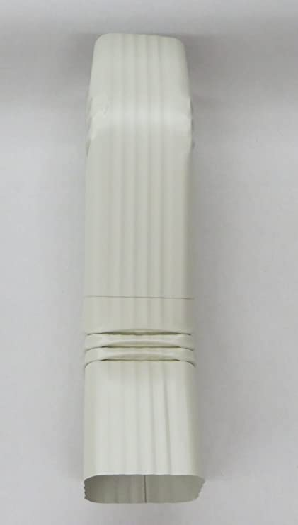 3 x 4 Inch Aluminum Downspout Style A Elbows White