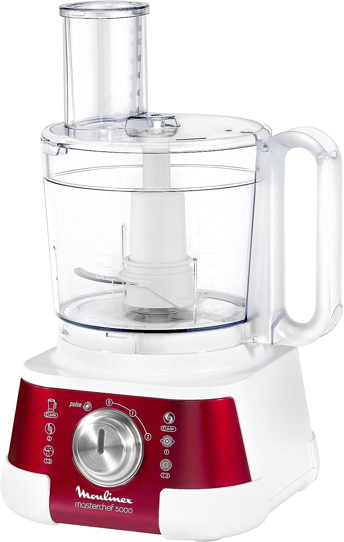 Moulinex FP520GB1 - Robot de Cocina con 8 Accesorios, Rojo rubí: Amazon.es: Hogar