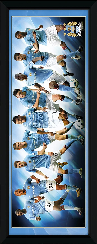 Gb Eye Ltd Manchester City FC Players 10/11 (DE), gerahmt, 30 x 30.48 cm ES PFD034