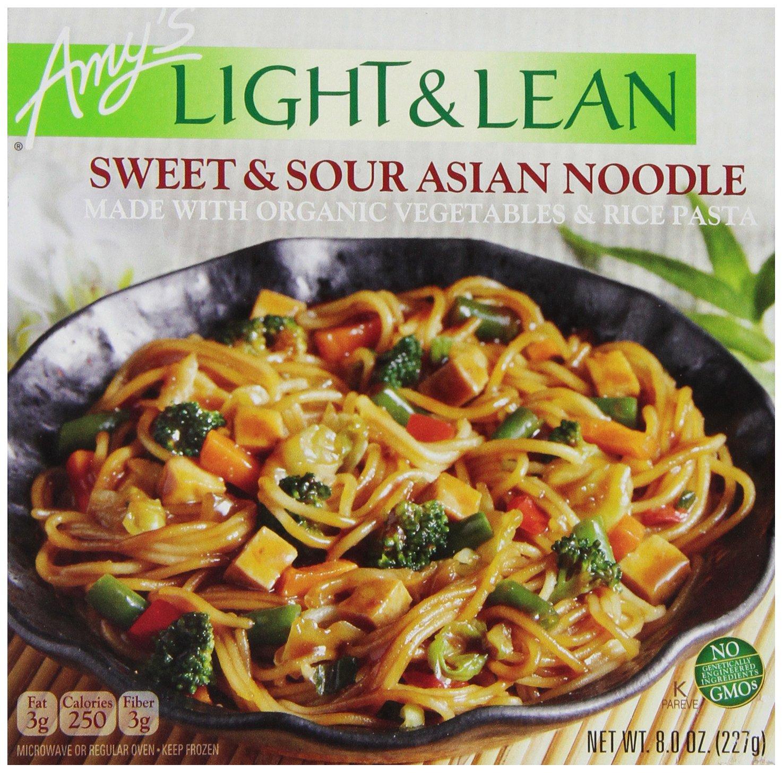 Amy's Light & Lean, Sweet & Sour Asian Noodle, 8 oz (Frozen)