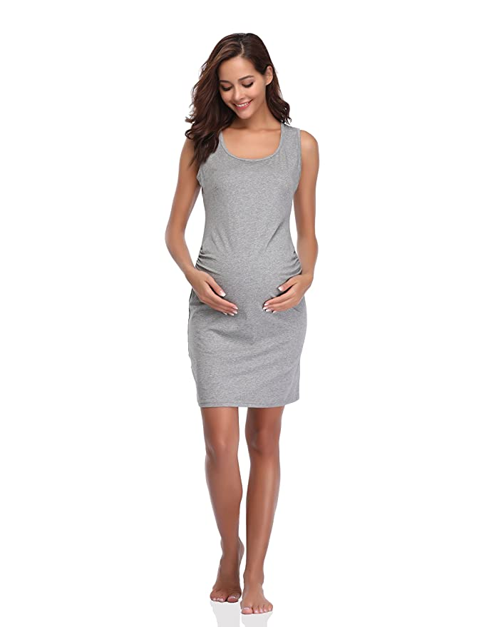 f700b5d0386 Floating Time Women s Sleeveless Maternity Dress(XL