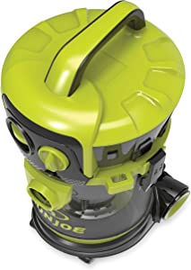 Sun Joe SWD4000 4 Gal. 3.5 Peak HP Industrial Motor Wheeled Wet/Dry Vacuum, Green