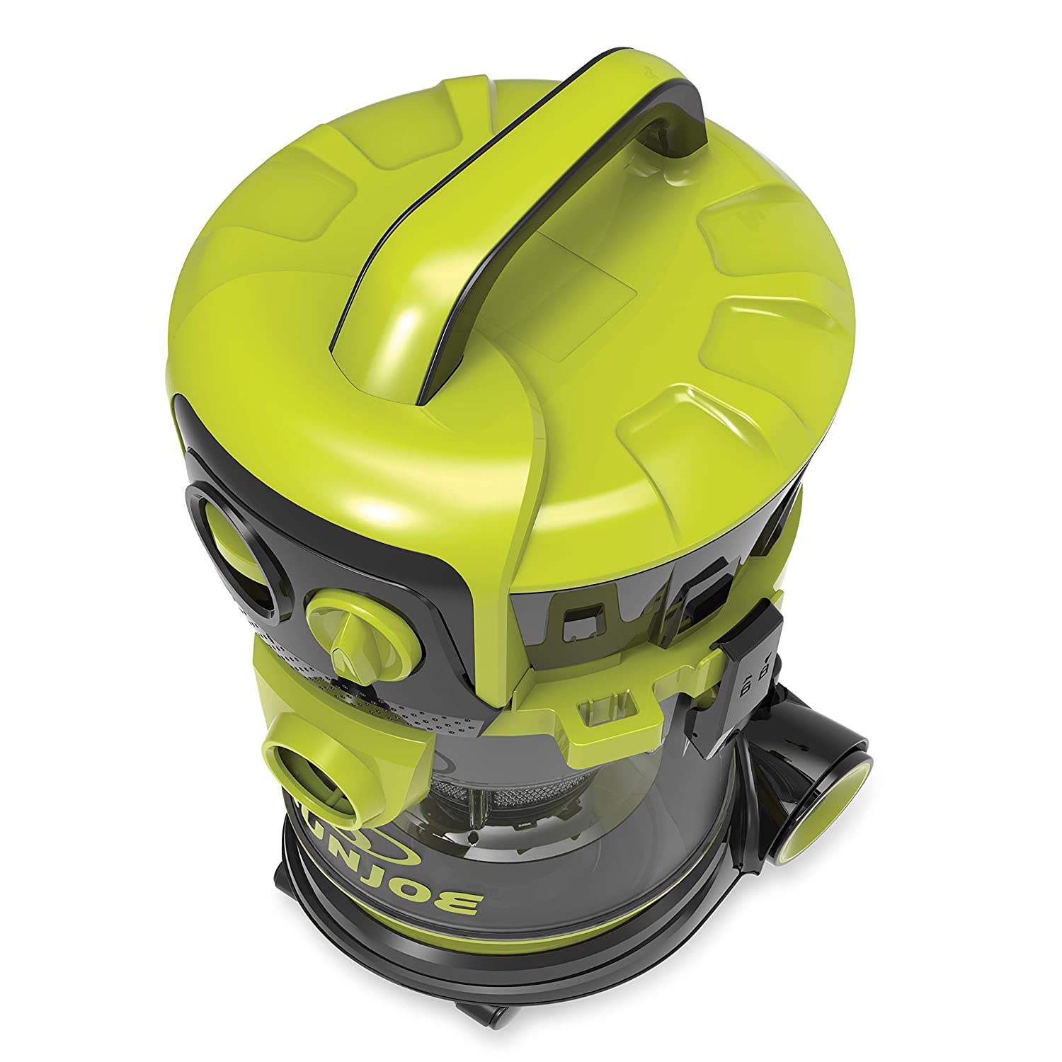 Sun Joe SWD4000 4 Gal. 3.5 Peak HP Industrial Motor Wheeled Wet Dry Vacuum, Green