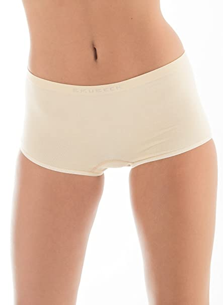 5 x BRUBECK® Mujer Boxer Slip PerfectFit sin costuras (Mujer Ropa Interior Funcional Sport