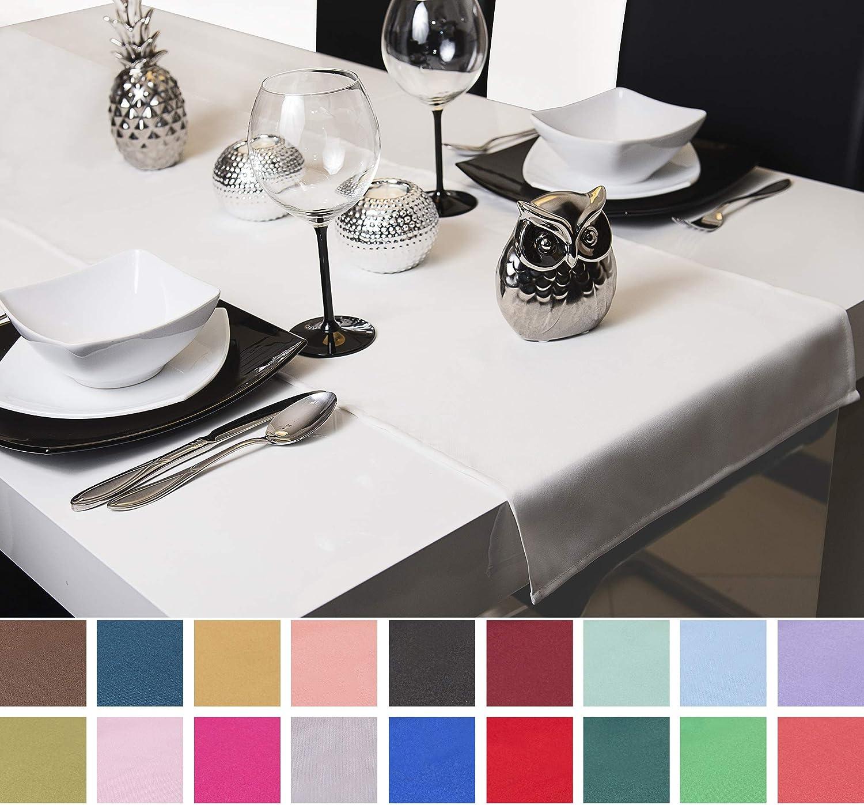 Fibra sintetica 40 x 80 cm 40 cm di larghezza rosa. Roban Fashion runner da tavolo in 26 colori