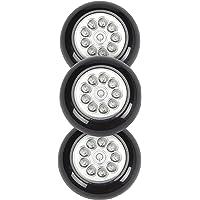 Light It 30016-303 9 LED Wireless Anywhere Stick On Tap Light, 3 Pack, Black