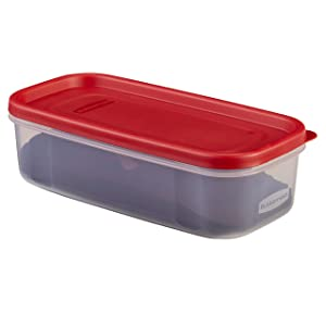 Rubbermaid Modular Food Storage Container, 5 Cup, Racer Red 1776470