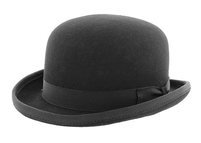 cc678915d436e4 Christys Fashion Wool Felt Bowler Hat in Black: Amazon.co.uk: Clothing