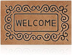 Outdoor Welcome Mats for Front Door Home Entrance Door Mats for Outside Entry Durable Doormats Rubber Rugs for Back Door Entry Garage Patio High Traffic Areas Shoe Rugs