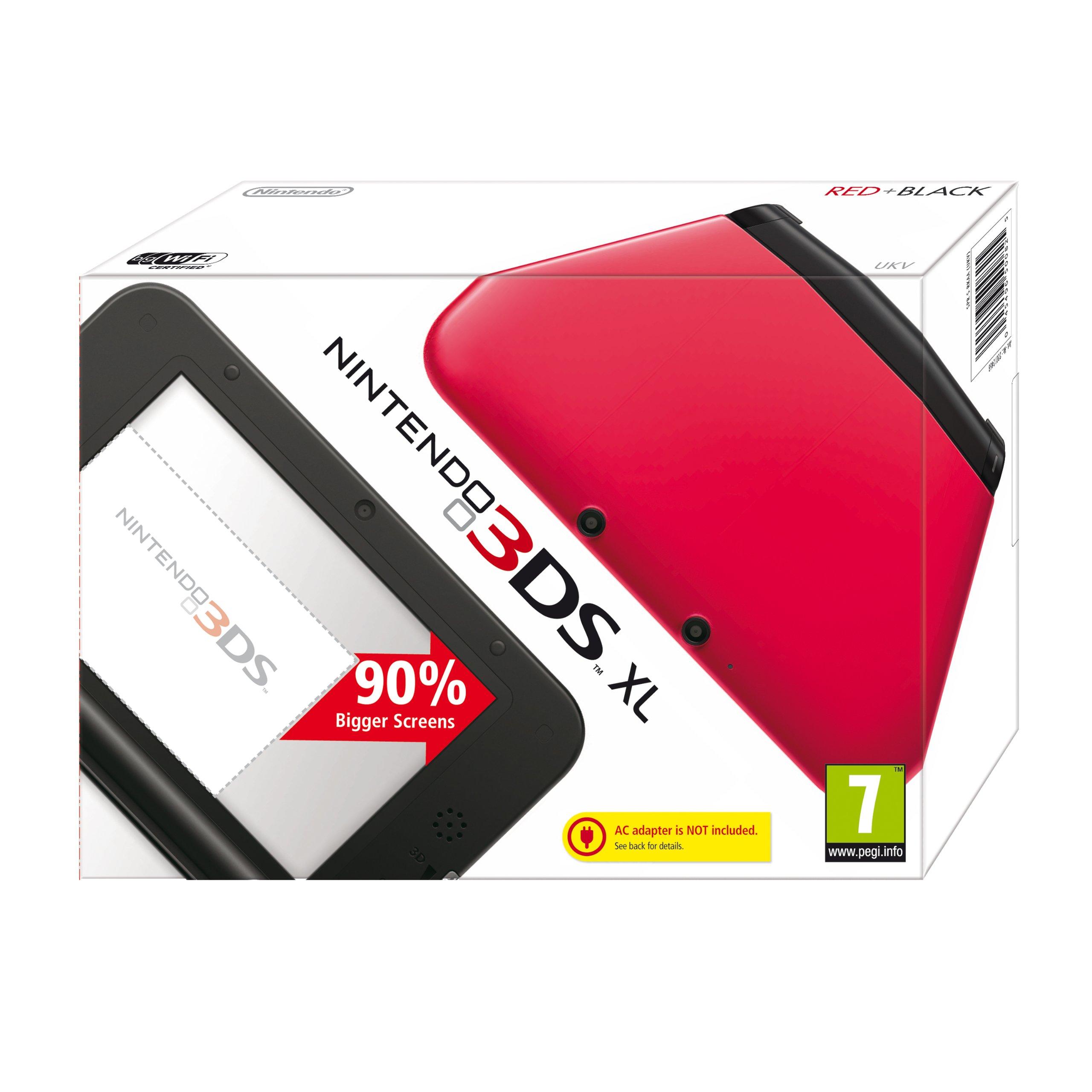 Nintendo Handheld Console - Red/Black (Nintendo 3DS XL
