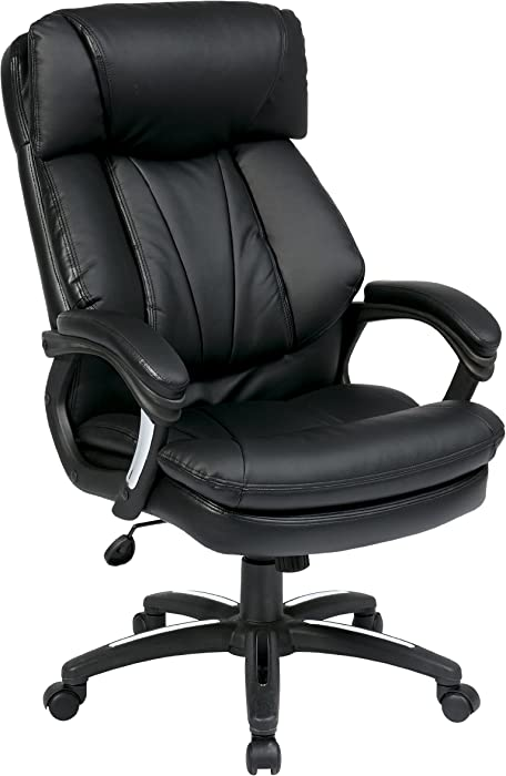 Top 7 Office Star Leather Executive Office Chair