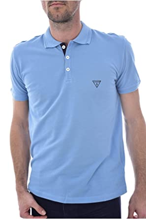 Guess F92H00JR02D - Polo para Hombre Azul Celeste XL: Amazon.es ...