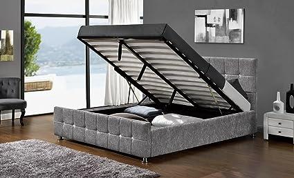 Somier de cama levadizo con compartimento de almacenamiento ...