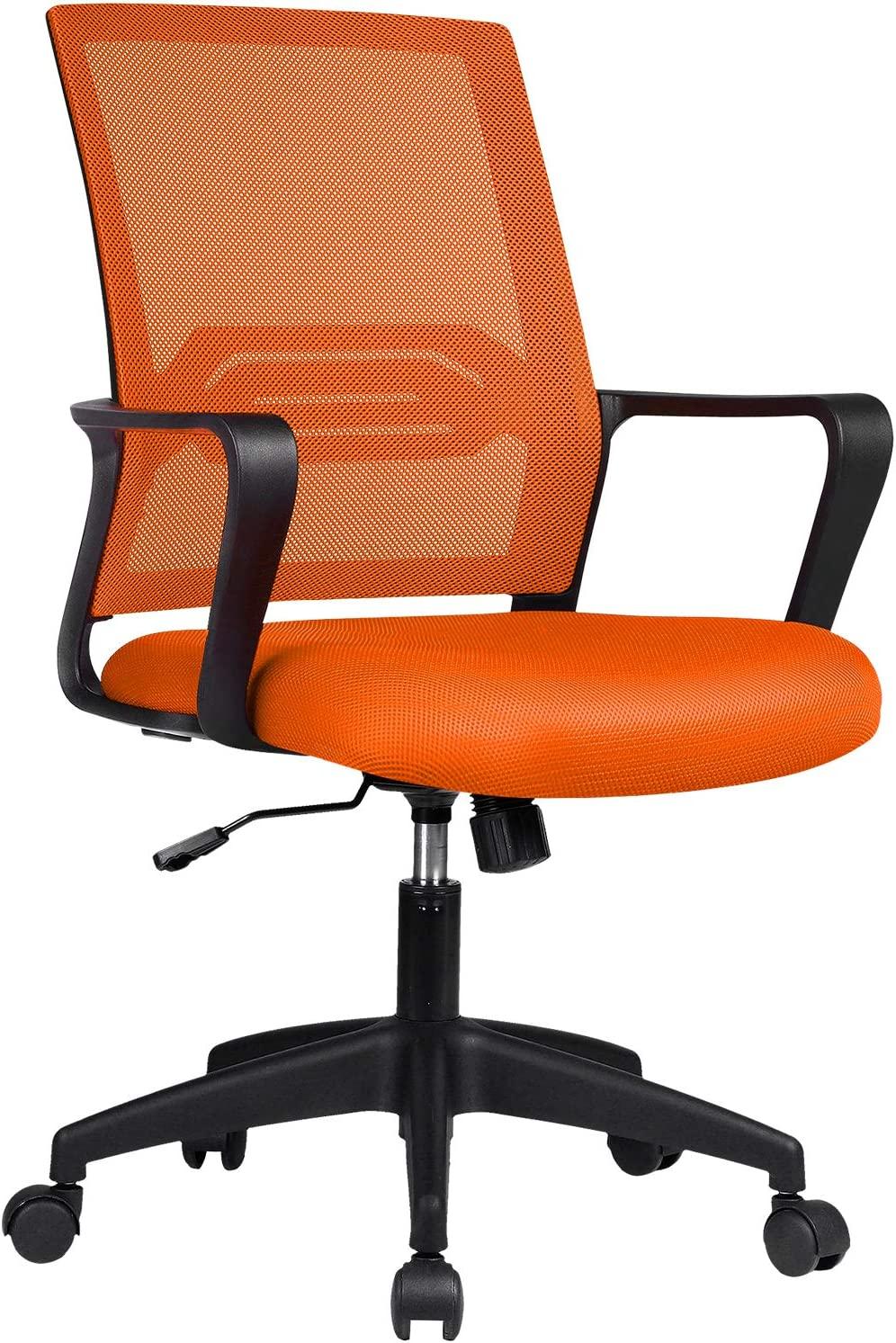 ComHoma Office Chair Ergonomic Desk Chair Mesh Computer Chair Mid Back Mesh Home Office Swivel Chair, Modern Executive Chair with Armrests Lumbar Support(Orange),