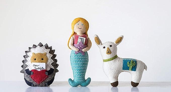 Amazon.com: Creative Coop - Almohada de lana para erizo de ...