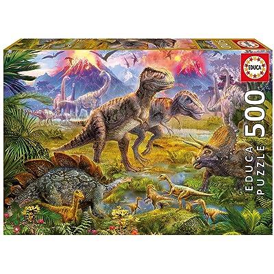 Educa Dinosaur Gathering Puzzle (500 Piece): Toys & Games