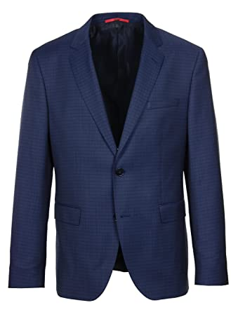 1eb99ce62ddd7 Amazon.com  Hugo Boss C-Jeffery Simmons Trim Fit Navy Check Suit ...