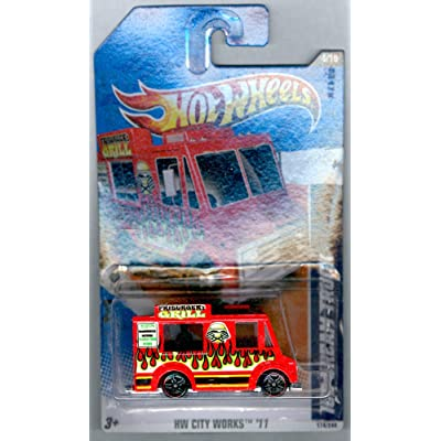Hot Wheels 2011 HW City Works 174/244 RED FRIBURGER'S Grill ICE Cream Truck 4/10: Toys & Games