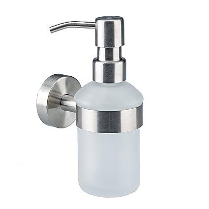 Axial-serie - jabón dispensador de vidrio esmerilado y de alta calidad de acero inoxidable