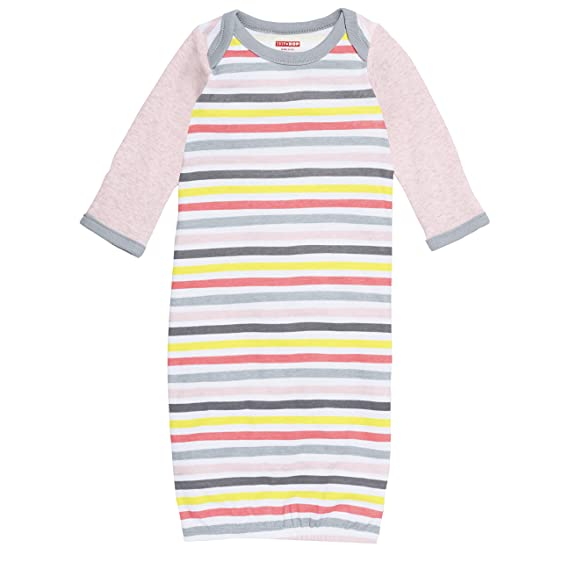 Amazon.com: SkipHop Baby Girls\' ABC-123 Striped Sleep Gown, Pink ...