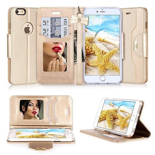 10 opinioni per Cover iPhone 6, Cover iPhone 6S, Custodia iPhone 6, Fyy® Pelle Premia