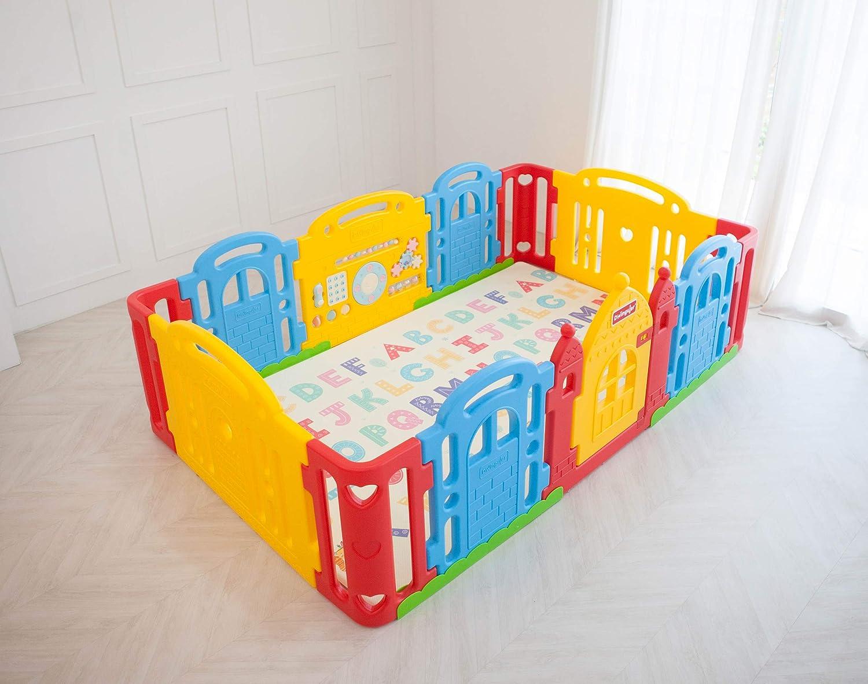 Dwinguler Castle Kids Playpen Rainbow