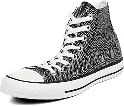 5423652f0aa Image Unavailable. Image not available for. Color  Converse Chuck Taylor All  Star Hi Top White Black 135280F Mens 4.5   Womens 6.5
